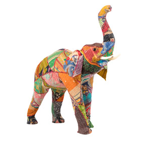 Colour Standing Patchwork Elephant from £24.95