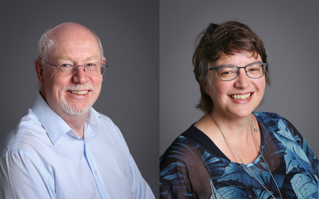 Newly elected Chairman Mark Hamnett and Vice-Chair Jane Griffin