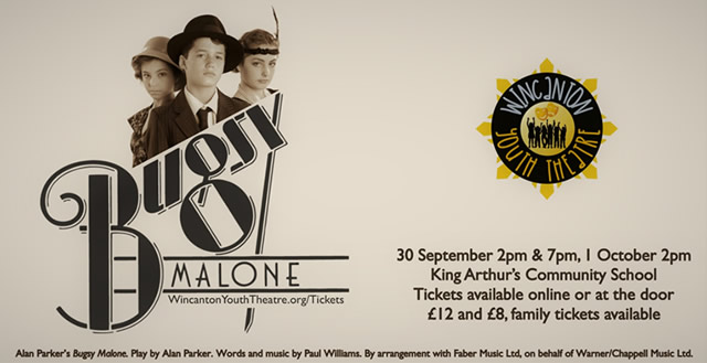 Wincanton Youth Threatre Bugsy Malone poster