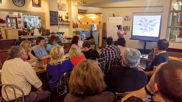 The Wincanton Chamber of Commerce digital marketing workshop in Redfearns last night