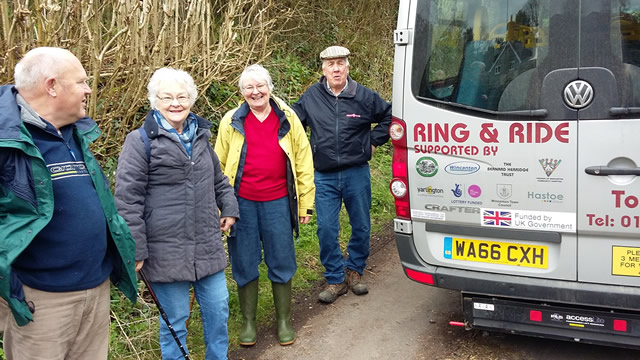 The Wincanton Cancer Group out on a nature ramble around Stokehill Farm