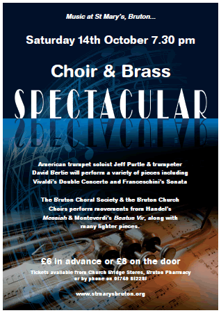 Choir & Brass Spectacular at St. Mary's poster