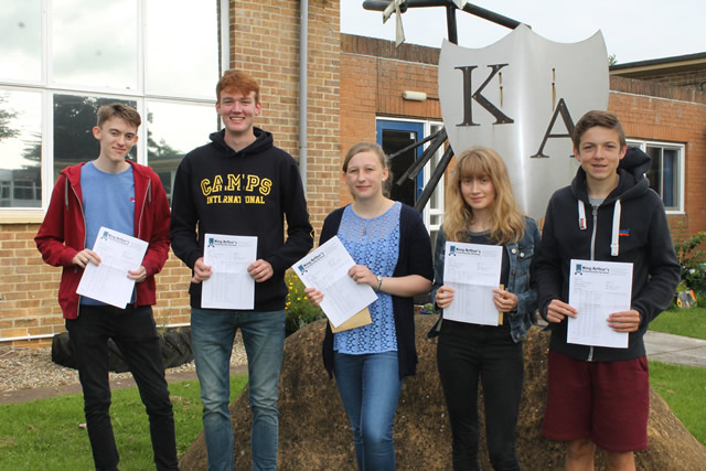 King Arthur's Community School students with exceptional GCSE results this year