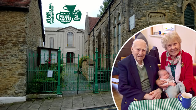 Wincanton Baptist Church coffee morning in support of Macmillan