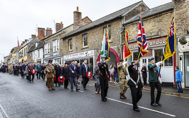 Remembrance Day 2015 parade in Wincanton