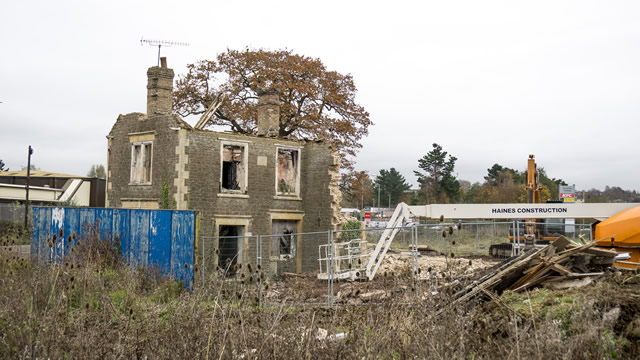 That derelict house near KFC is finally being demolished!