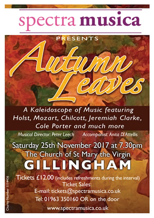 Spectra Musica's 2017 Autumn Leaves concert poster