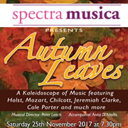 Spectra Musica's 'Autumn Leaves' concert in Gillingham next week