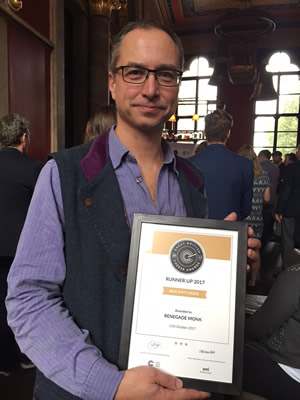 Horsington's cheese, Renegade Monk, was Runner-Up at the Great British Cheese Awards 2017