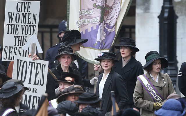 A frame from the film Suffragette (2015)