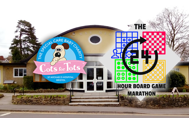 The 24 Hour Board Game Marathon in support of Cots for Tots, at Wincanton Memorial Hall