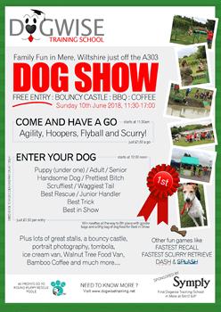 Dogwise Training School Family Fun Dog Show 2018 poster