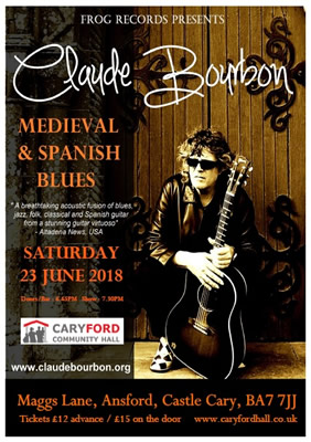 Claude Bourbon at Caryford Community Hall poster