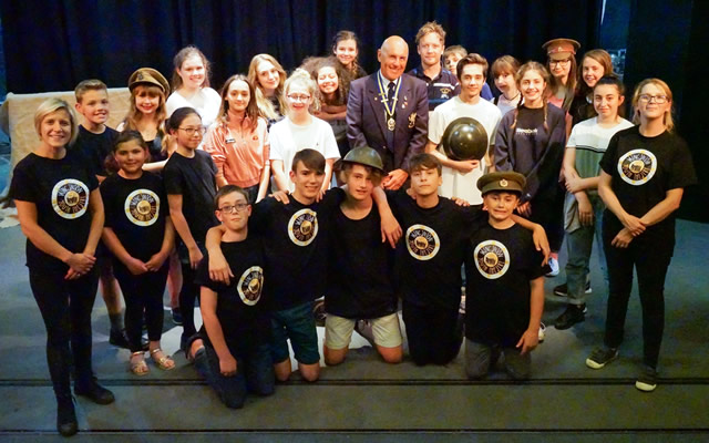 The cast and crew of Wincanton Youth Theatre