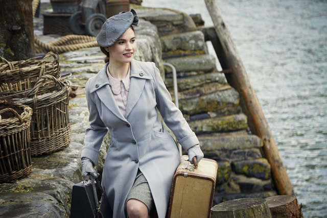 Lily James in The Guernsey Literature and Potato Peel Pie Society, 2018