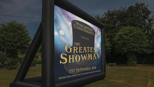 The Greatest Showman playing open-air at Wincanton's Cale Park