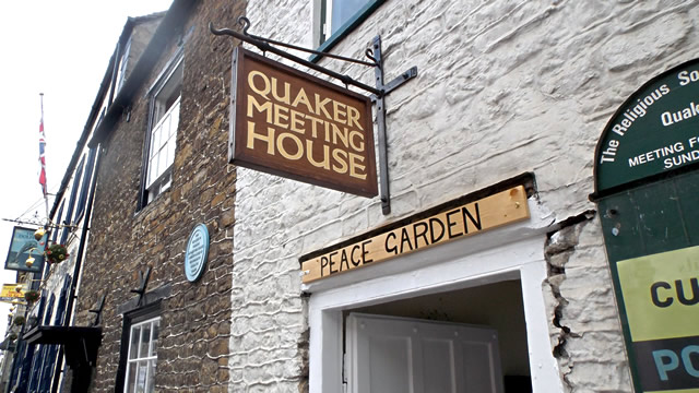 The entrance to the Quaker Meeting House, off Wincanton High Street