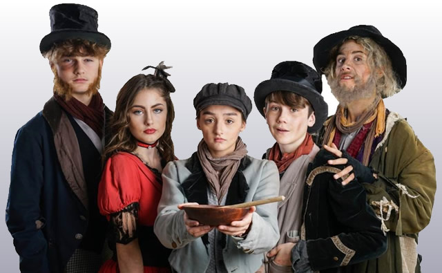 Wincanton Youth Theatre's Oliver! cast