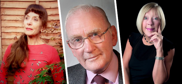 Some of the local authors who will be exhibiting at Wincanton Book Festival 2019: Jane Wade, John Baxter, Alex Charlton