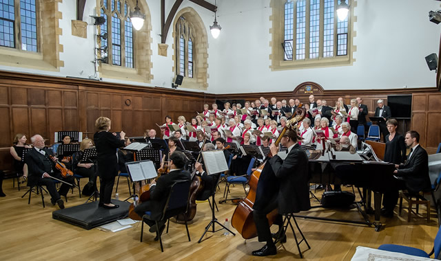 Bruton Choral Society performing in the King's School Memorial Hall