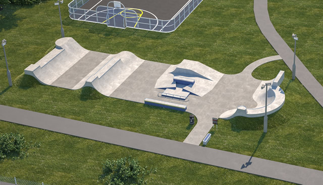 Wincanton skate park design draft illustration for public consultation