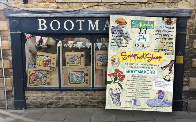 A new monthly women's clothes swap shop at the Bootmakers Workshop, Market Place, Wincanton