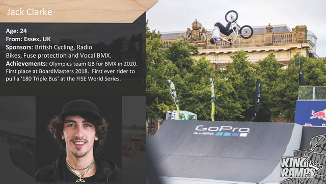 Bio of Jack Clarke, Olympic Team GB for BMX in 2020