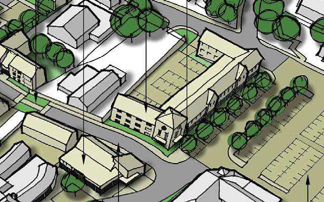 A sketch of Carrington Way proposals from the Wincanton Town Centre Strategy draft