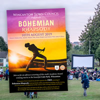 <span style='color: red'>[NEW DATE:]</span> Bohemian Rhapsody: FREE open-air movie at Cale Park!