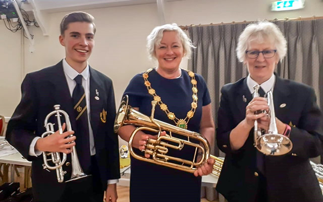 "Wincanton's new Mayor, Susan Shelbourne-Barrow, went to ""Meet the Band"""