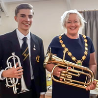 "Wincanton's new Mayor went to ""Meet the Band"""