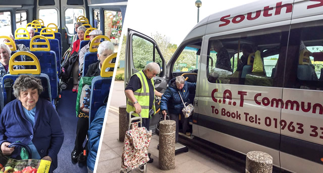 The CAT bus, helping people stay independent for longer, operating from the Balsam Centre