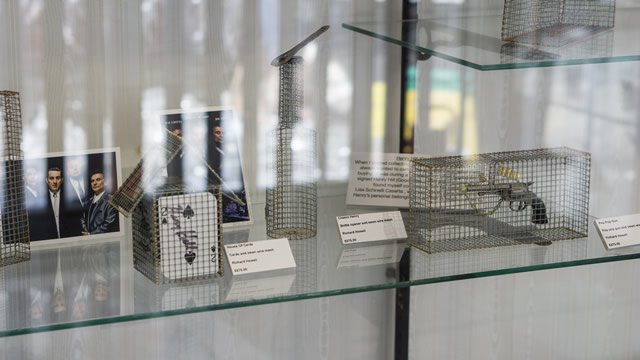 Wire mesh art by Richard Howell at the Greening the Earth gallery in Wincanton