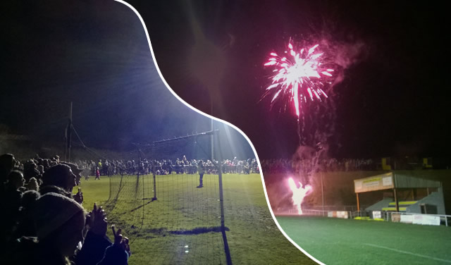 Fireworks and bonfire at Wincanton Sports Ground in 2016