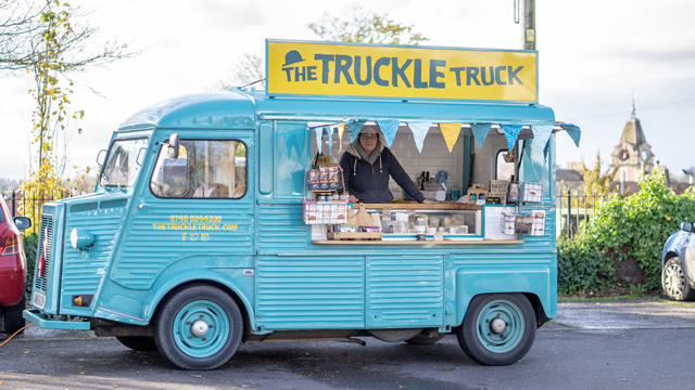 The Truckle Truck in Wincanton Memorial Hall car park, every Thursday!