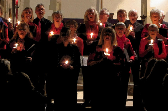 The Pilgrim Singers performing their 2014 St Nicholas' Day concert
