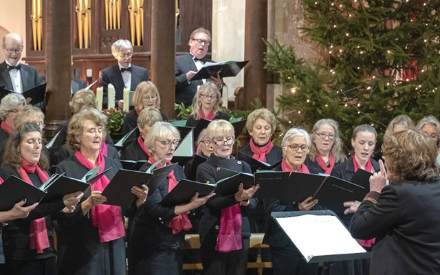 Bruton Choral Society performing a Christmas concert from a previous year