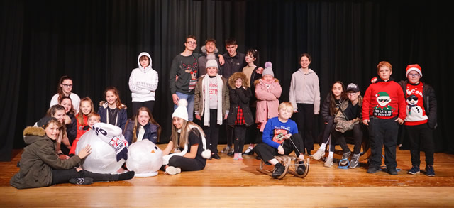 Members of Wincanton Youth Theatre rehearsing their Christmas show (Photo by Trixie Hiscock from Studio H)