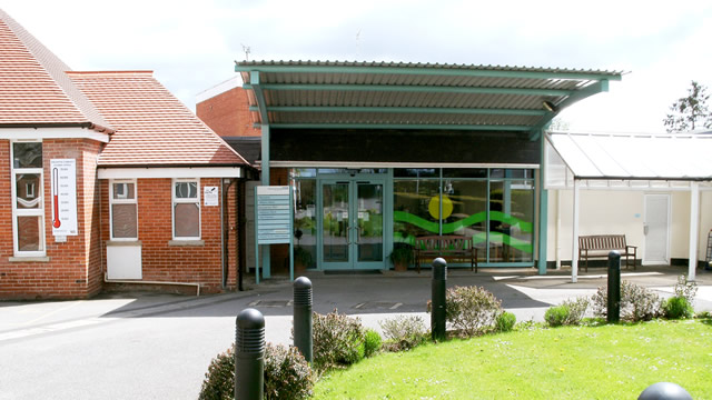Wincanton Community Hospital front entrance