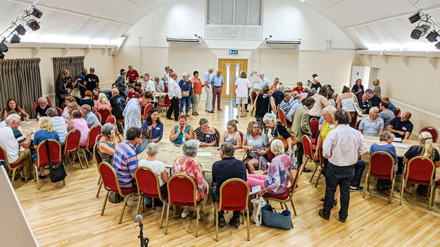 About 100 people who attended the first Wincanton for the Future public meeting in July 2019