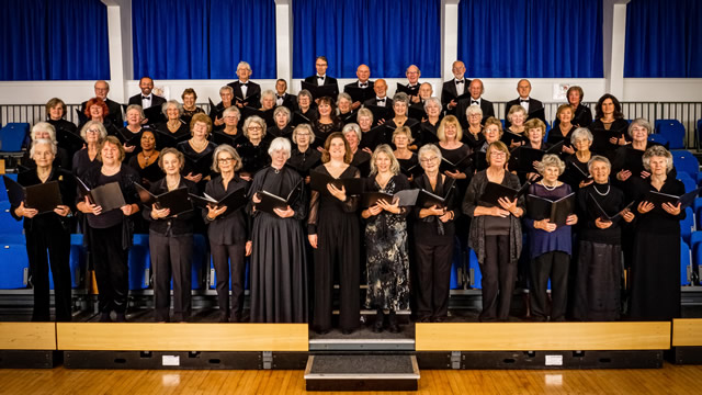 Wincanton Choral Society in the King Arthur's School Performance Enhancement Centre