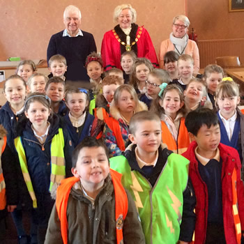 Wincanton Primary School pupils visit the Town Hall