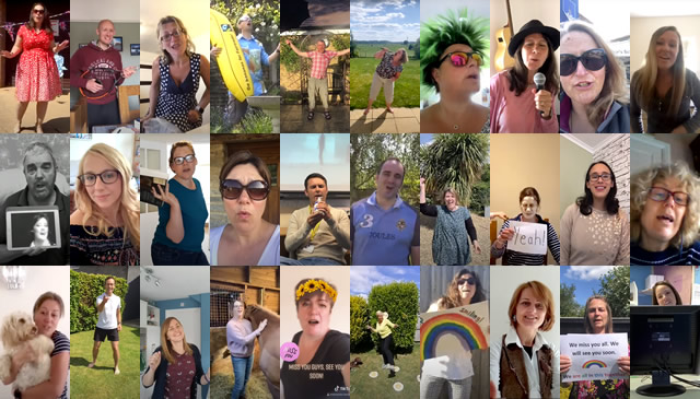 Thumbnails from the King Arthur's School staff COVID video message