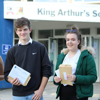 Students at King Arthur's School are celebrating their GCSE grades