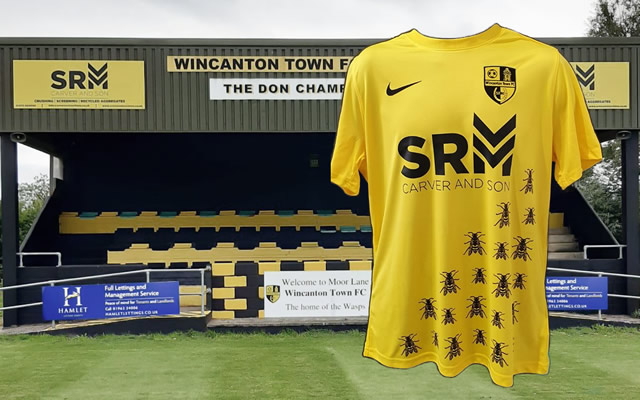 Wincanton Town FC stand and new 2020 kit