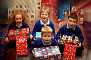 Wincanton Primary Pupils Pack Gifts for Children